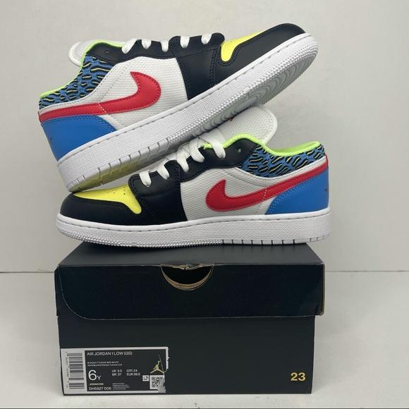 """Nike Air Jordan 1 Retro Low """"Funky Patterns"""" NEW"""